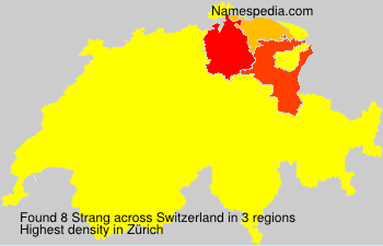 Surname Strang in Switzerland