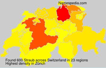 Surname Straub in Switzerland