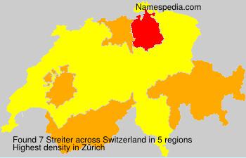 Familiennamen Streiter - Switzerland