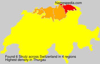 Surname Strutz in Switzerland