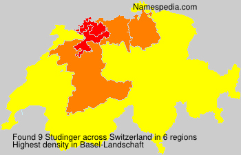 Surname Studinger in Switzerland