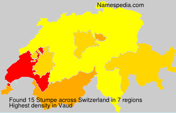 Surname Stumpe in Switzerland