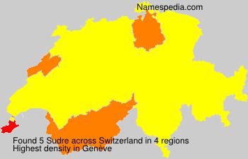 Surname Sudre in Switzerland