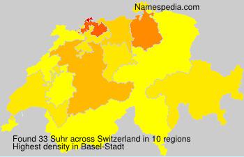 Surname Suhr in Switzerland