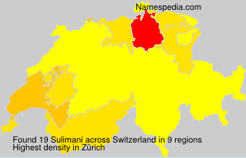 Surname Sulimani in Switzerland