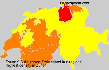 Familiennamen Sulja - Switzerland