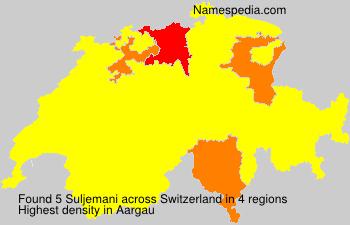 Surname Suljemani in Switzerland