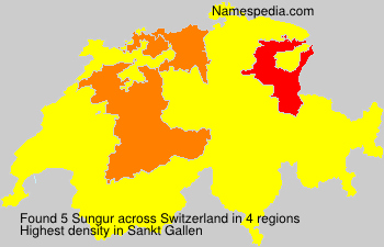 Surname Sungur in Switzerland