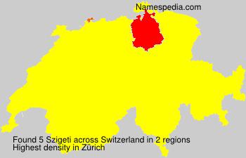 Surname Szigeti in Switzerland