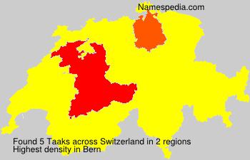 Familiennamen Taaks - Switzerland