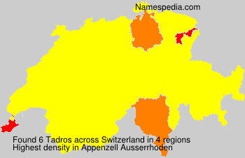 Surname Tadros in Switzerland