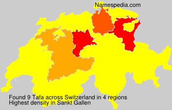 Surname Tafa in Switzerland