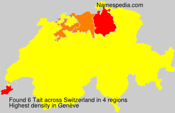 Surname Tait in Switzerland