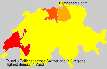 Surname Tallichet in Switzerland