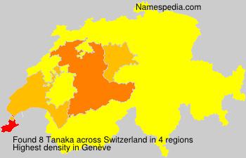 Surname Tanaka in Switzerland
