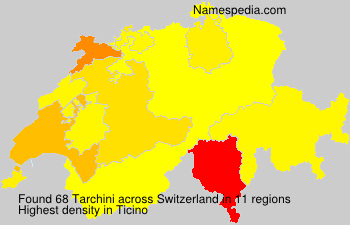 Surname Tarchini in Switzerland