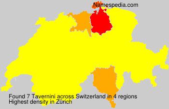 Surname Tavernini in Switzerland