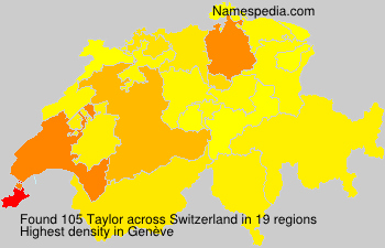 Surname Taylor in Switzerland