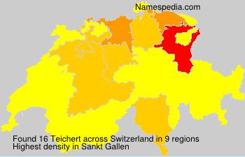 Surname Teichert in Switzerland
