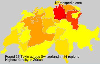 Familiennamen Tekin - Switzerland
