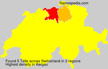 Surname Telle in Switzerland