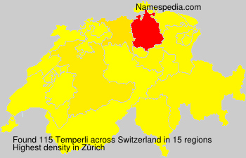 Surname Temperli in Switzerland