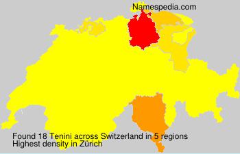 Surname Tenini in Switzerland