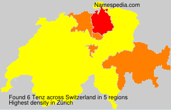 Surname Tenz in Switzerland
