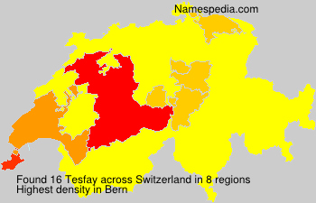 Surname Tesfay in Switzerland
