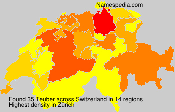 Surname Teuber in Switzerland