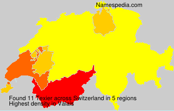 Surname Texier in Switzerland