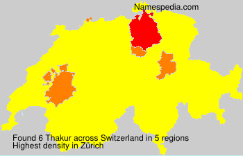 Familiennamen Thakur - Switzerland