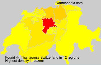 Surname Thali in Switzerland