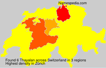 Surname Thayalan in Switzerland