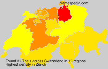 Surname Theis in Switzerland