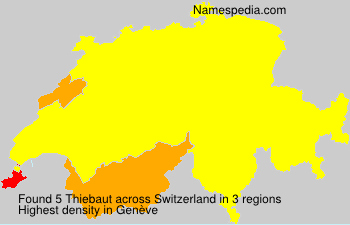 Surname Thiebaut in Switzerland