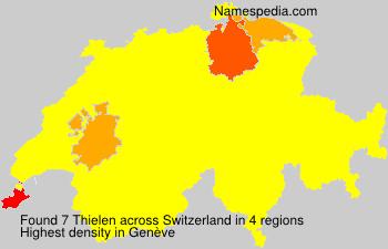 Surname Thielen in Switzerland