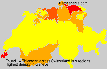 Surname Thiemann in Switzerland