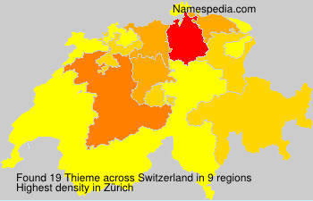Surname Thieme in Switzerland