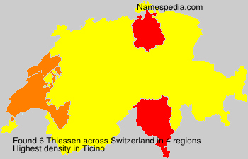 Surname Thiessen in Switzerland