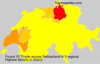 Surname Thode in Switzerland