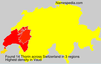 Surname Thorin in Switzerland