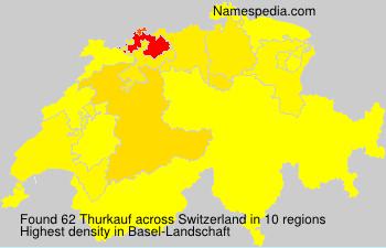 Surname Thurkauf in Switzerland