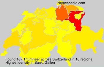 Surname Thurnheer in Switzerland