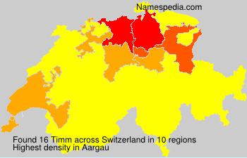 Surname Timm in Switzerland