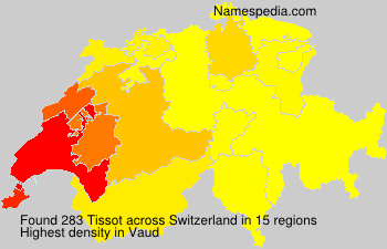 Surname Tissot in Switzerland