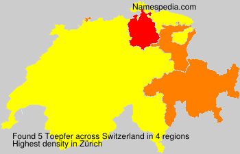 Surname Toepfer in Switzerland