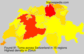 Surname Toma in Switzerland