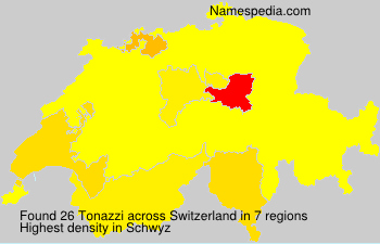 Surname Tonazzi in Switzerland