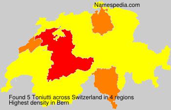 Familiennamen Toniutti - Switzerland